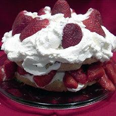 Old Fashioned Strawberry Shortcake with Sweetened Flavoured Whipped Cream