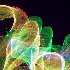 Swirling light ! by Jim Barton - Abstract Patterns ( laser light, colorful, light design, laser design, laser, swirling light, laser light show, light, science )