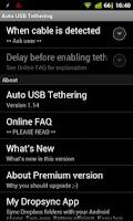 Screenshot of Auto USB Tethering
