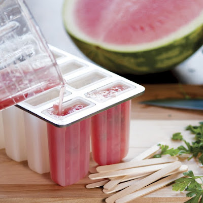 Watermelon & Parsley Ice Pops