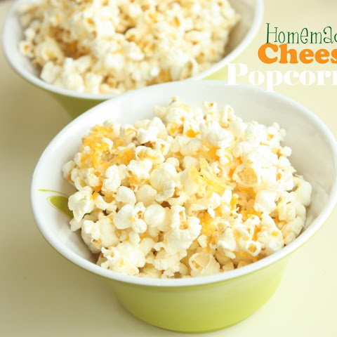 Homemade Cheesy Crunch Popcorn