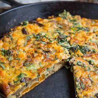 Butternut Squash, Mushroom, Kale and Sausage Frittata