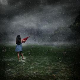 Dancing in the rain. by Michael Dalmedo - Digital Art Things