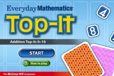 Everyday Math Addition Top-It