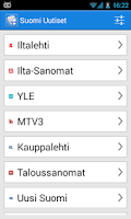 Screenshot of Suomi Uutiset