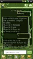 Screenshot of Bamboo GO SMS Theme
