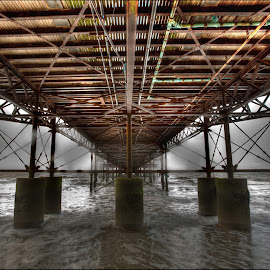 Under Cromer Pier by Des King - Buildings & Architecture Bridges & Suspended Structures ( cromer, sea, pier, architecture, bridge, Urban, City, Lifestyle )