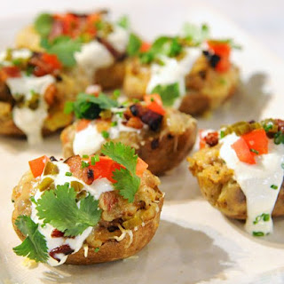 Taco-Stuffed Potato Skins