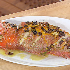Whole Roasted Red Snapper with Orange, Rosemary and Kalamata Olives