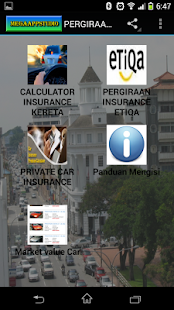 PERGIRAAN INSURANCE KERETA - screenshot