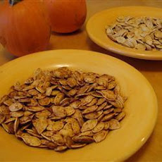 Spicy Slow Roasted Pumpkin Seeds