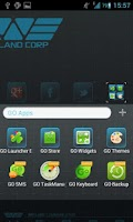 Screenshot of Weyland GO Launcher EX theme