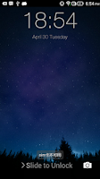 Screenshot of iOS 7 Lockscreen