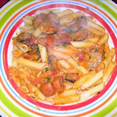 Spicy Vodka Cream Pasta With Hot Sausage