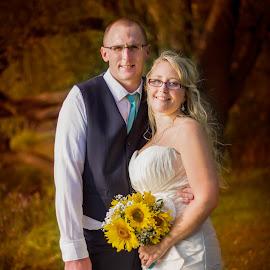 Autumn wedding by Emily Sullivan - Wedding Bride & Groom ( autumn, happy, wedding, fall, bride, people, groom,  )
