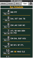Screenshot of NFL 2014 Schedule and Scores