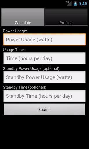 Power Cost Estimator