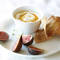 Honeyed Yogurt Dip with Figs and Anise Wheat Crisps