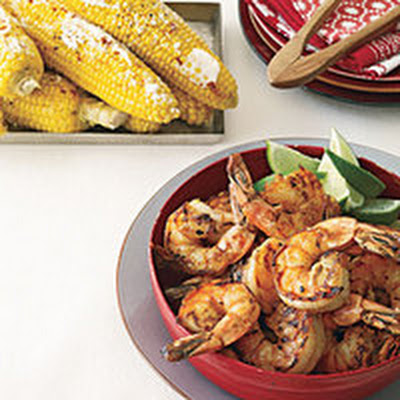 Grilled Shrimp and Cuban Corn