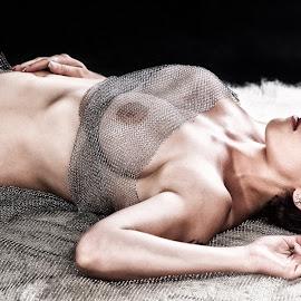 In the net by Martin Zenisek - Nudes & Boudoir Artistic Nude ( glamour, nude, color, woman, net,  )
