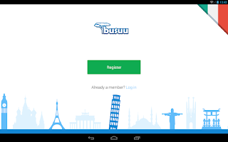 Screenshot of Learn Italian with busuu