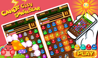 Screenshot of Candy City Smash Star