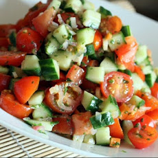 Cucumber Tomato Salad With Heat