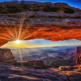 Mesa Arch by Steve Donnelly - Landscapes Sunsets & Sunrises ( sunburst, arch, sunrise )