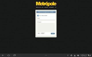Screenshot of Player Rádio Metrópole Fm