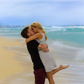 Inlove by Christopher Foy - People Couples ( love beach cacun mexico ocean sand water cute )