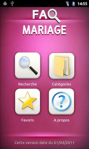 FAQ Mariage