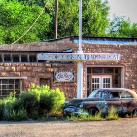 Cow Canyon Trading Post by Kevin Turner - Transportation Automobiles (  )