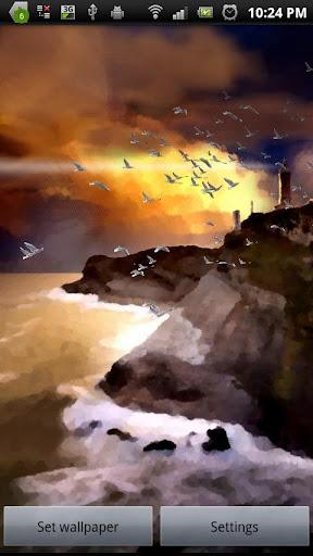 非現実的な海景3D