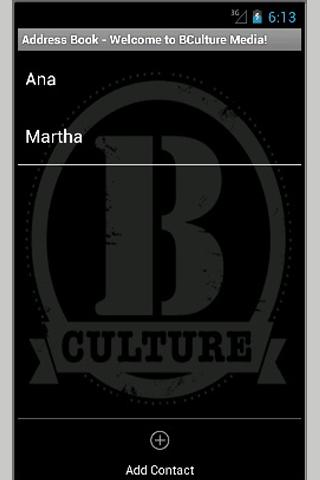 BCulture Media Address Book