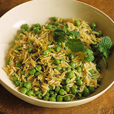 Orzo with Mint and Peas