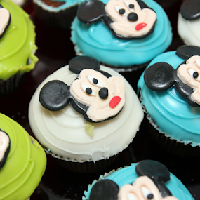 Mickey Mouse Muffins by Stanica Marius - Food & Drink Candy & Dessert ( muffins, mouse, candy, colors, mickey, dessert )