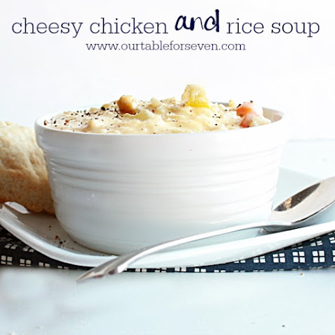 Cheesy Chicken and Rice Soup