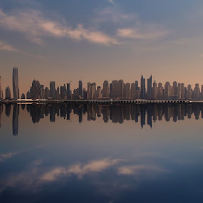 Urban Frequency by Scott Lorenzo - City,  Street & Park  Skylines ( reflection, skyline, dubai, buildings, cityscape, city )