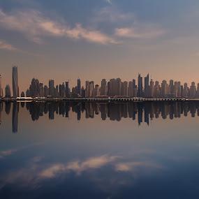 Urban Frequency by Scott Lorenzo - City,  Street & Park  Skylines ( reflection, skyline, dubai, buildings, cityscape, city )