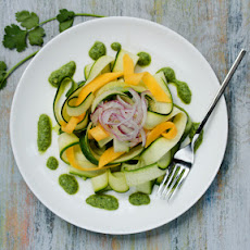 Zucchini and Green Chutney Salad