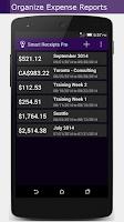 Screenshot of Smart Receipts
