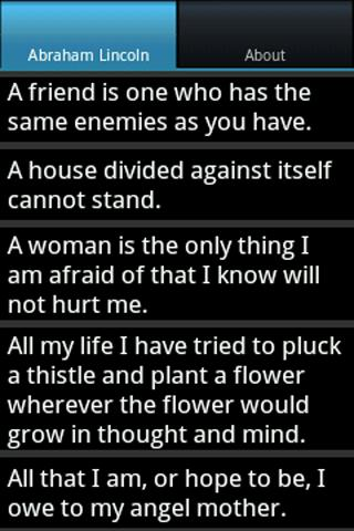 Lincoln Sayings