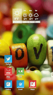 Color Sweet Love Candy Theme - screenshot