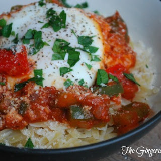 Poached Eggs in Marinara (Cooking Whims)
