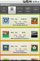 Screenshot of Icc World Cup 2011