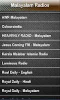Screenshot of Malayalam Radio Radios