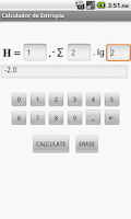Screenshot of Entropy Calculator