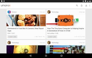 Screenshot of Umano: Listen to News Articles