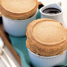 Coffee Souffles with Mocha Sauce