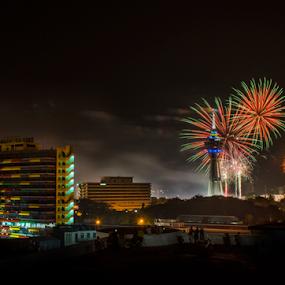 Alor Setar Firework by Mohammad Khairizal Afendy - Public Holidays New Year's Eve ( eve, firework, malaysia, show, fire, new years, alor setar, , Fireworks, Cityscape, Celebration, Countdown )